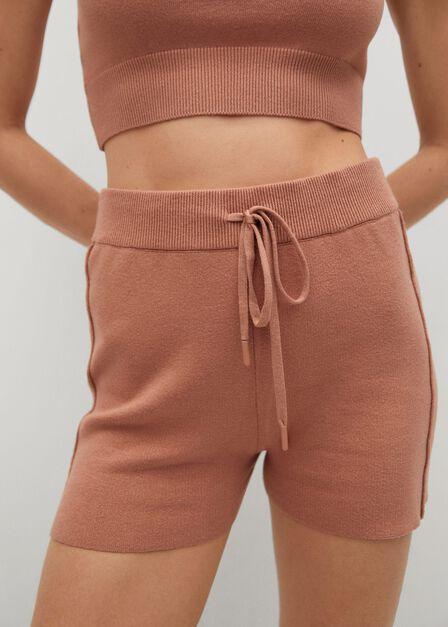Mango - lt-pastel pink Knitted shorts