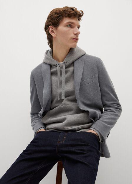 Mango - grey Slim-fit textured blazer