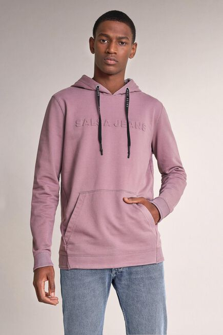 Salsa Jeans - Pink Hoodie with logo on chest