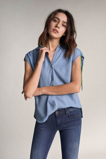 Salsa Jeans - Blue Tunic shirt with drawstring
