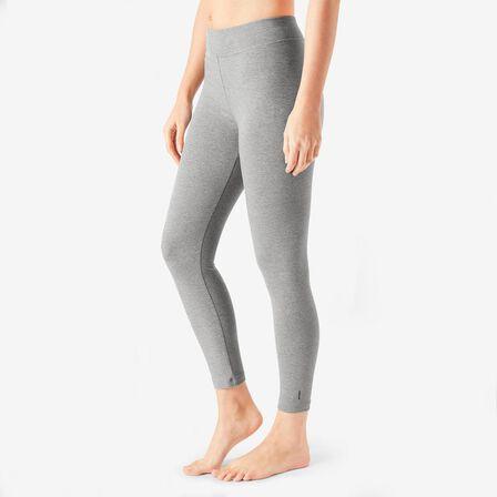 NYAMBA - W33 L31 7/8 Cotton Fitness Leggings Fit+ - Grey