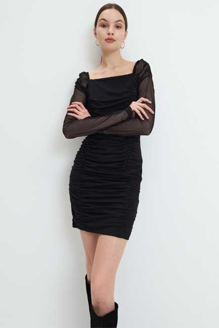 Mohito -  Draped Jersey Dress - Black