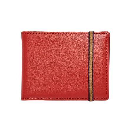 CARRE ROYAL - Carre Royal Portefeuille Porte-Carte Avec Monnaie Leather Wallet Red