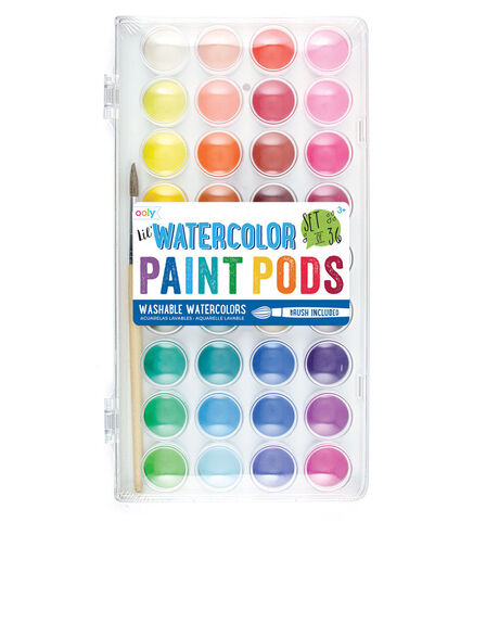 OOLY - OOLY Lil Paint Pods Watercolors + Brush