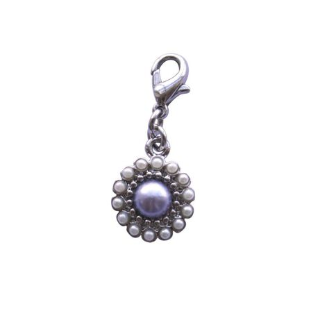 BOMBAY DUCK - Bombay Duck Vintage Pearl Flower Blue Charm