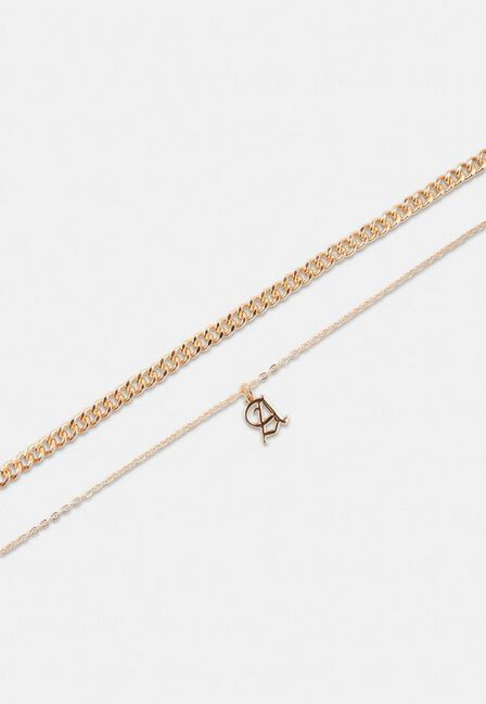Missguided - Gold Look Gothic Initial A Pendant Necklace, Women