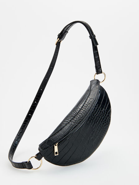 Reserved - Bum bag in croc-effect texture