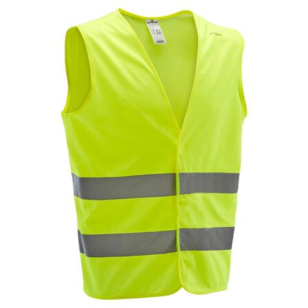 BTWIN - Small/Medium  500 Adult Hi-Vis Cycling Gillet - EN1150, Fluo Yellow
