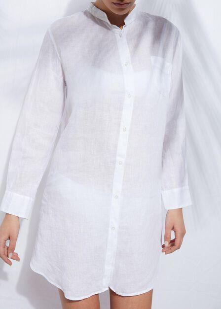 Calzedonia - White Linen Shirt, Women