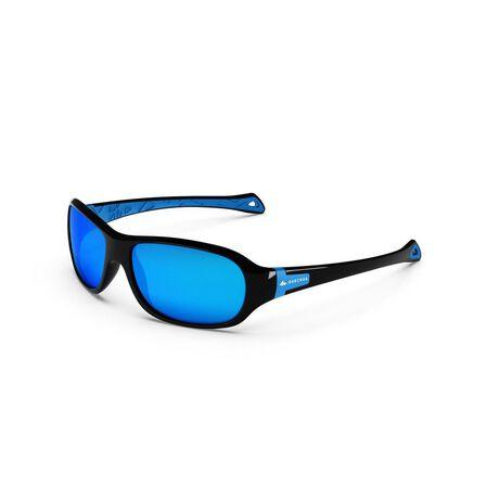 QUECHUA - Kids Hiking Sunglasses - MH T500 - Age 6-10 - Polarising Cat 4 - Black