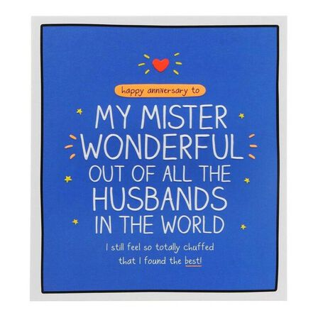 PIGMENT PRODUCTIONS - Happy Jackson Anni HUSBand Mister Wonderful 160X176 Greeting Card