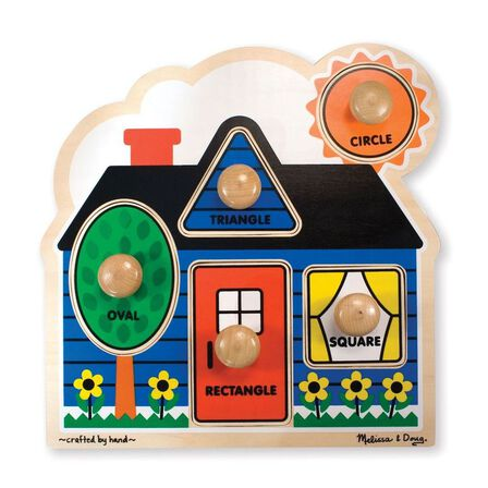 MELISSA & DOUG - Melissa & Doug First Shapes Jumbo Knob