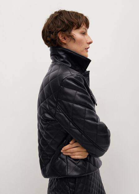 Mango - black Pocket quilted jacket