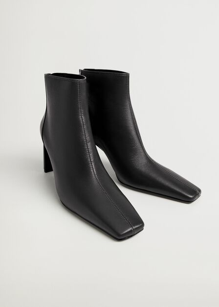 Mango - black Squared-toe ankle boots