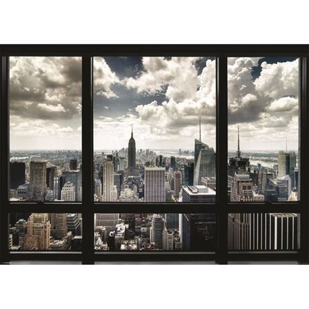 PYRAMID POSTERS - New York Window Poster [100 x 140 cm]