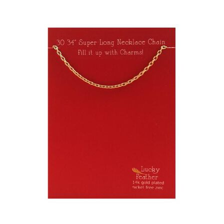 LUCKY FEATHER - Charm Builder Base Gold 30 34 In. Chain