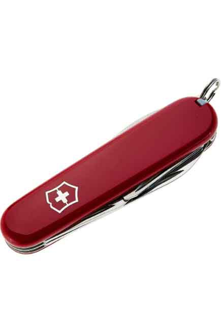 QUECHUA - Unique Size  13-function Swiss Hiking Knife, Red