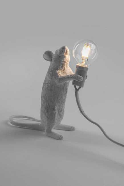 Seletti - Mouse Lamp White Step