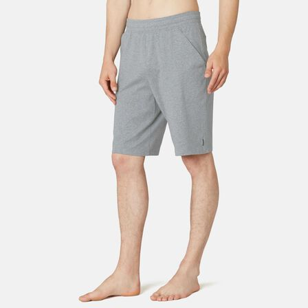 NYAMBA - M Fitness Long Stretch Cotton Shorts - Mottled Grey - Grey Blue