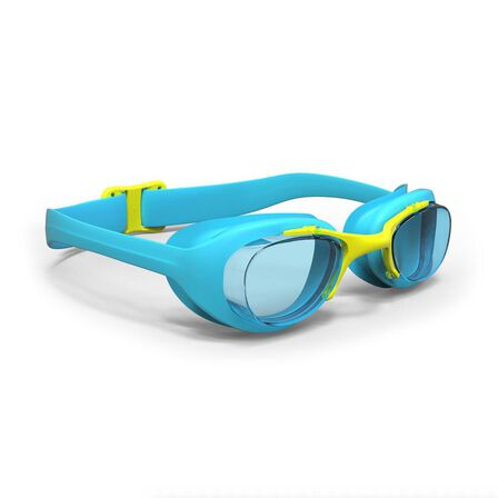 NABAIJI - Small  SWIMMING GOGGLES XBASE S CLEAR LENSES, Turquoise Blue