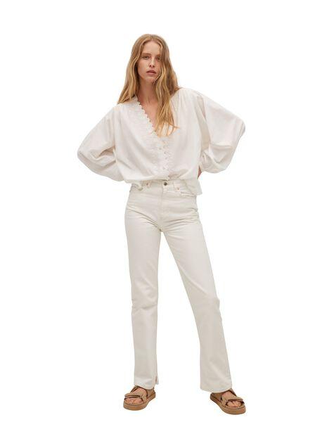 Mango - natural white Embroidered detail shirt, Women
