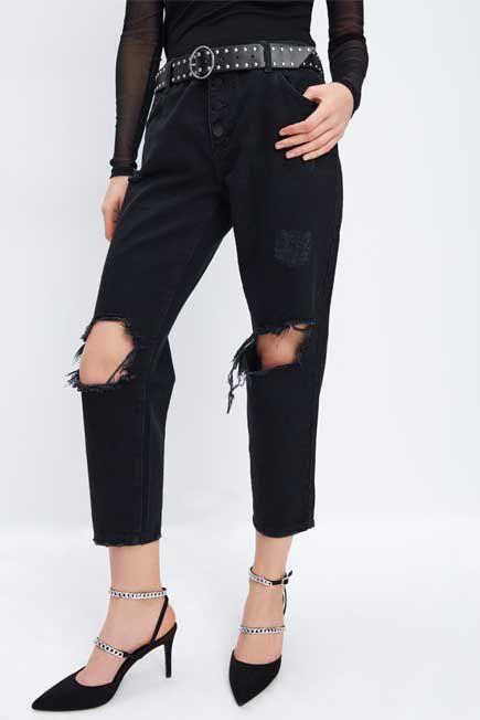 Mohito -  Boyfriend Jeans - Black