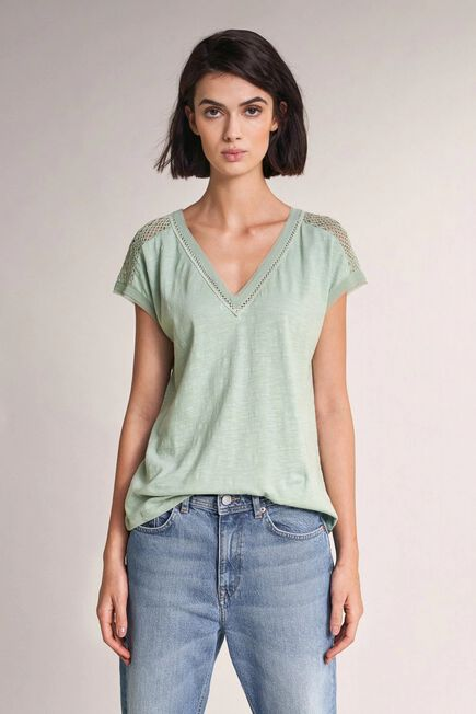 Salsa Jeans - Green Top with lace