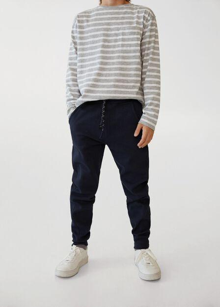 Mango - navy Cotton organic jogging trousers