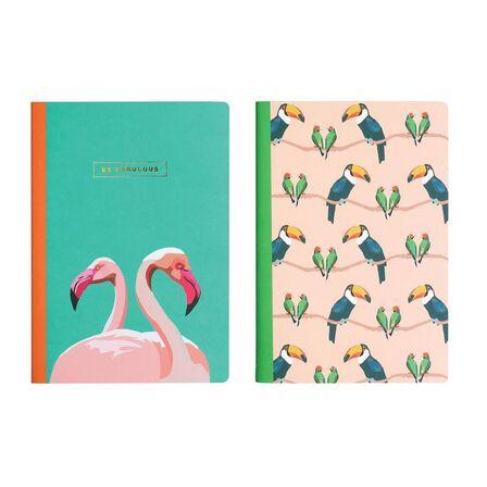 EMILY BROOKS - Emily Brooks Slim Exercise Books Birds [Set of 2]
