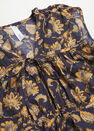 Mango - black Printed cotton blouse, Women