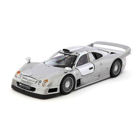 MAISTO - Maisto Mercedes Benz CLK GTR Die Cast Special Edition 1.24 Silver