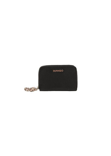 Mango - black Knot saffiano-effect purse, Women
