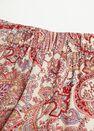 Mango - Red Flowy Printed Trousers, Women