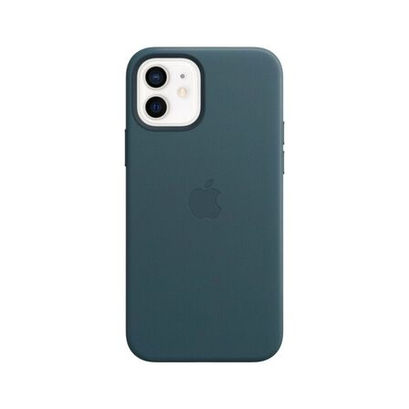 APPLE - Apple Leather Case Baltic Blue with MagSafe for iPhone 12/12 Pro
