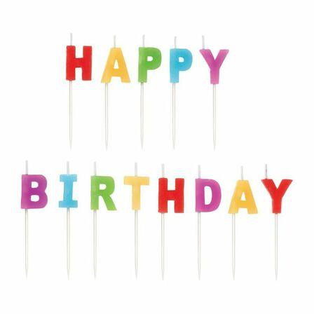WILTON BRANDS INC. - Wilton Happy Birthday Candle [Set of 13]