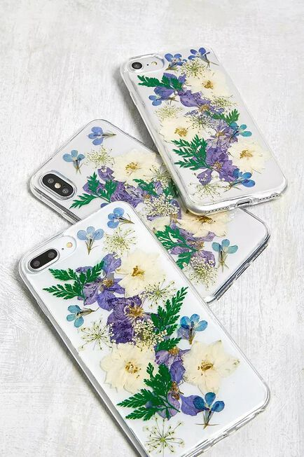 Urban Outfitters - Sky Recover Blue Pressed Flower IPhone 6/7/8/Se Phone