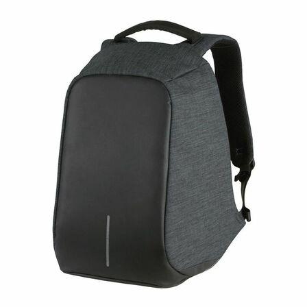 KINGSONS - Kingsons Volkano Black/Charcoal Smart Anti-Theft Backpack Fits 15.6-Inch