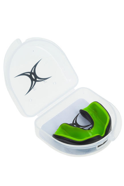 KIPSTA - Unique Size  Adult Rugby Mouthguard Virtuo - Black/Green, Default