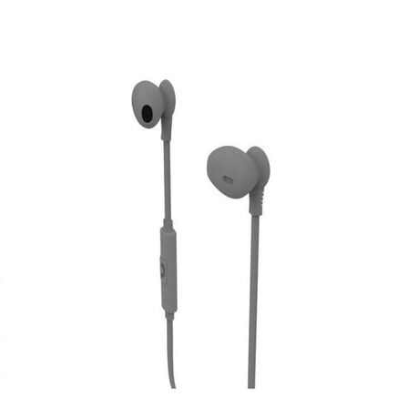 MUVIT - Muvit M1C 3.5mm Rubber Finish Grey In-Ear Earphones with Mic