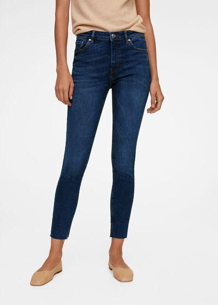 Mango - Open Blue Crop Skinny Isa Jeans