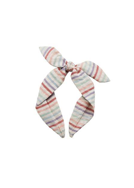 Mango - lt-pastel pink Stripes bow headband, Kids Girl
