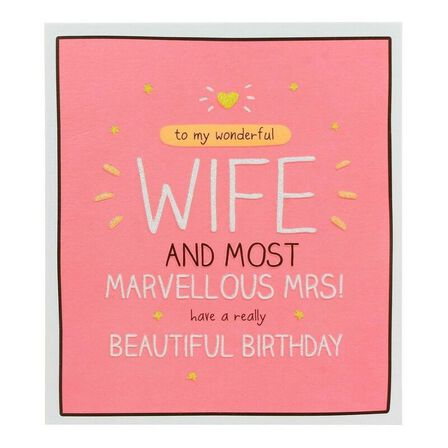 PIGMENT PRODUCTIONS - Happy Jackson Wife Marvellous Mrs 160X176 Greeting Card