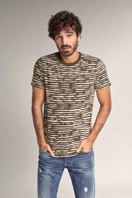 Salsa Jeans - Green Blue striped t-shirt