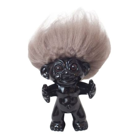 BYSOMMER - Good Luck Troll Black with Natural Hair Statue [12 cm]