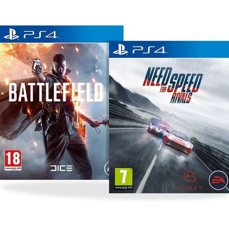 ASSORTED GAMES/BUNDLES - Battlefield 1 + Need for Speed Rivals [Bundle] - PS4