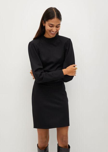Mango - black Puffed sleeves dress