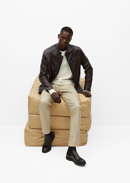 Mango - dark brown Brown nape biker jacket