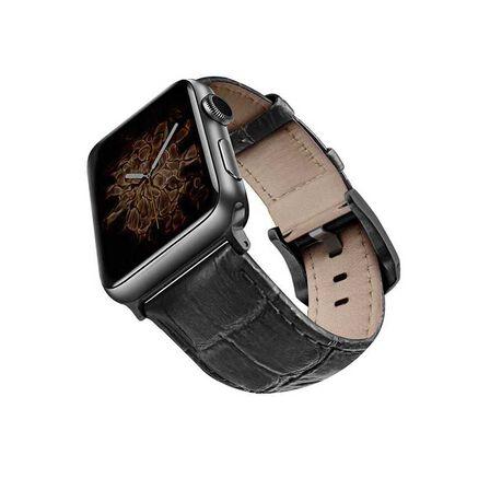 VIVA MADRID - Viva Madrid Montre Crox Black/Black Leather Strap for Apple Watch 42/44mm