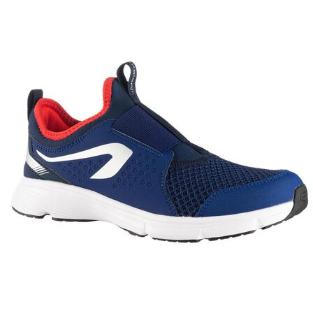 KALENJI - EU 35  RUN SUPPORT EASY KIDS' ATHLETICS SHOES, Navy Blue