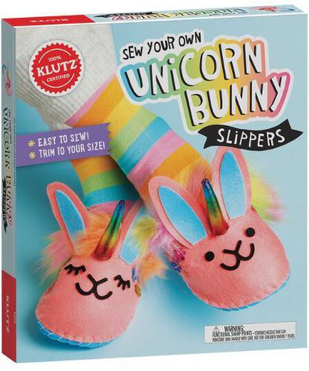 SCHOLASTIC USA - Sew Your Own Unicorn Bunny Slippers